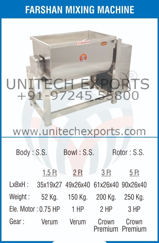 Namkeen or Farsan mixing machine